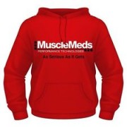 MuscleMeds Hooded Sweatshirt Red