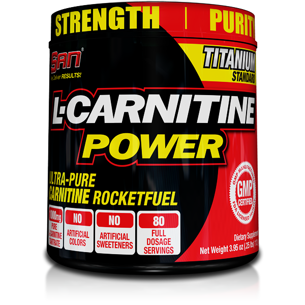 SAN L carnitine POWER powder 80 servings