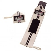 Model 1124 Schiek Line Wrist Wraps (white)